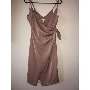 NWT Leith Satin Wrap Dress